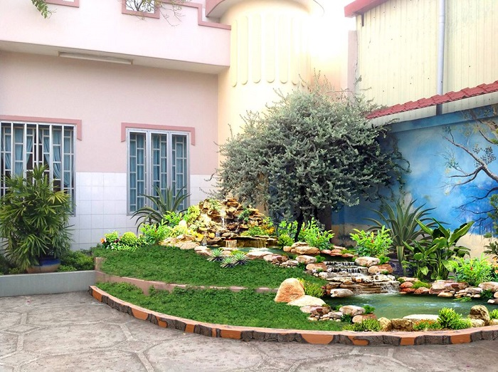giá thiết kế thi công sân vườn