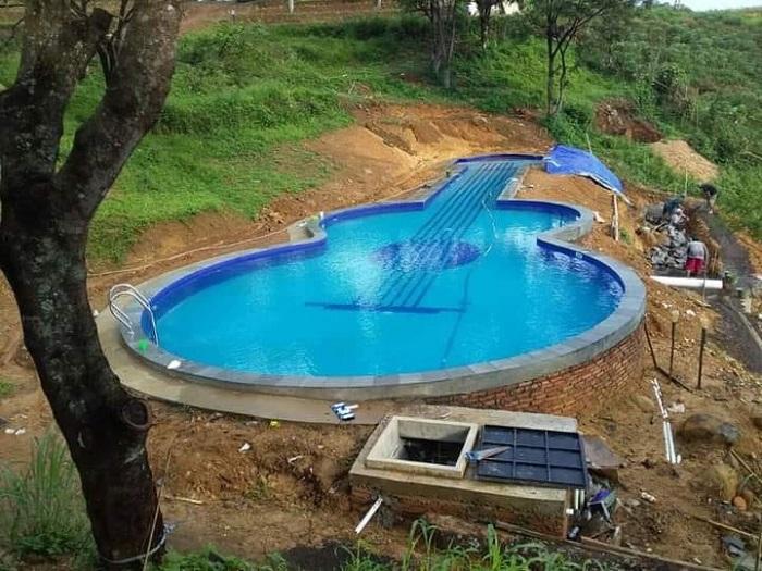 Thiết kế hồ bơi hình cây đàn cực đáng yêu