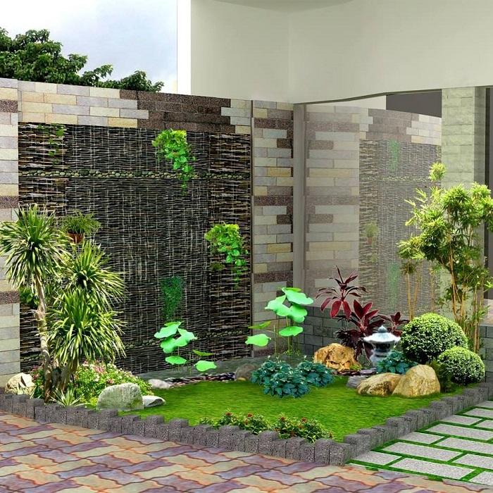Mẫu tiểu cảnh sân vườn mini đẹp