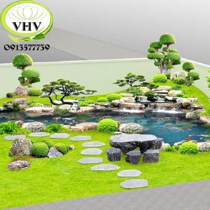 Mẫu tiểu cảnh sân vườn mini nào đem tới tài lộc, vượng khí?