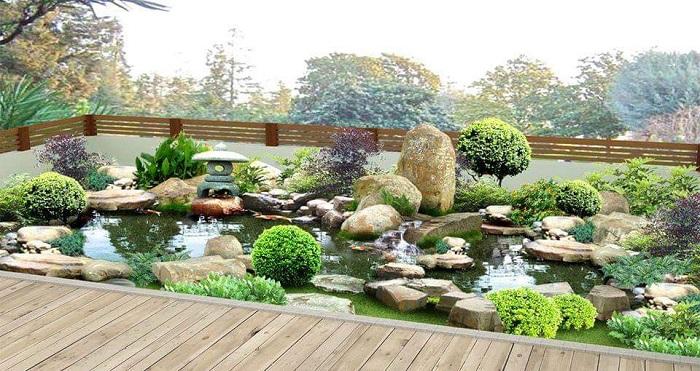 Mẫu tiểu cảnh sân vườn mini