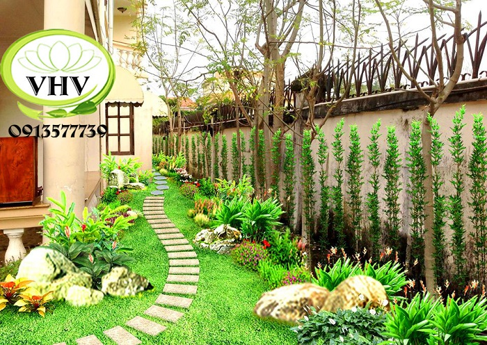 thi công thiết kế sân vườn đẹp
