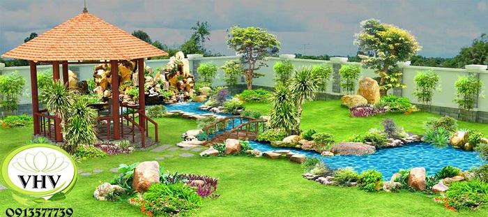 Diện tích sân vườn cần thi công và yêu cầu của khách hàng