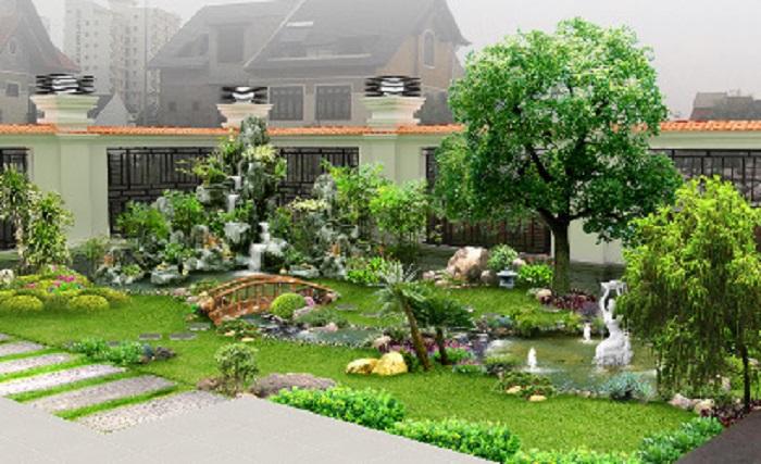 Mẫu sân vườn đẹp độc đáo được nhiều người yêu thích