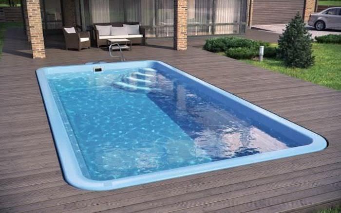 Bể bơi composite có thể đúc theo hình dáng bể