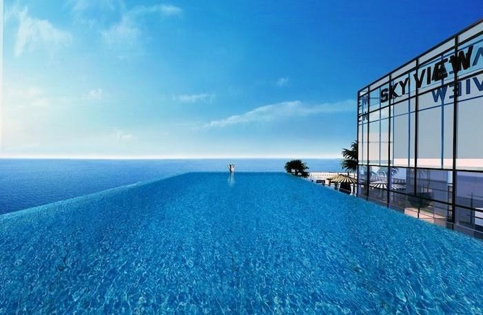 Bể bơi tràn bờ