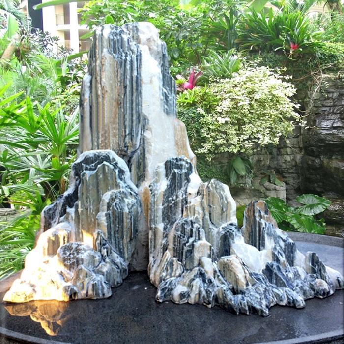 Tiểu cảnh bằng đá được ứng dụng rất phổ biến