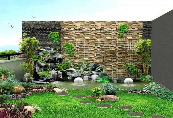 Ý tưởng hòn non bộ sân vườn