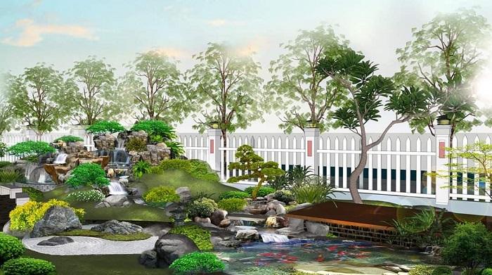 Mẫu công trình cảnh quan sân vườn Việt Hoa Viên thiết kế