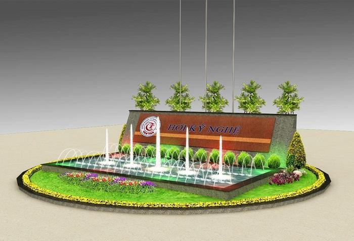 Mẫu đài phun nước sân vườn đẹp