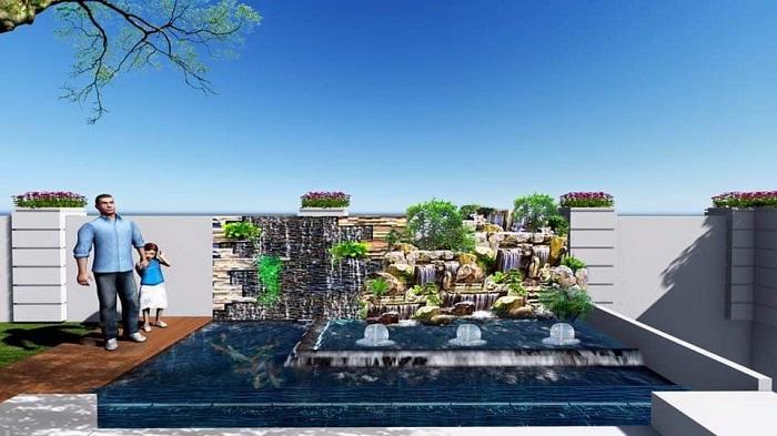 Thiết kế cảnh quan sân vườn giúp không gian thoáng đãng