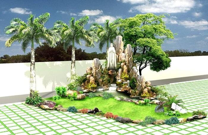 Chi phí thi công sân vườn phụ thuộc vào nhiều yếu tố