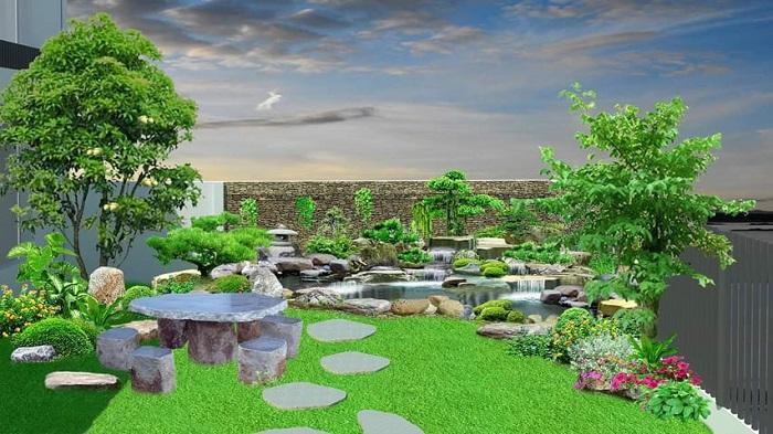Mảng không gian xanh ngày càng ưa chuộng trong thiết kế sân vườn