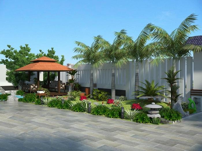 Kiểu thiết kế sân vườn hiện đại 2020