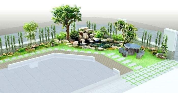 Nhiều loại đá quý được ứng dụng trong cảnh quan sân vườn