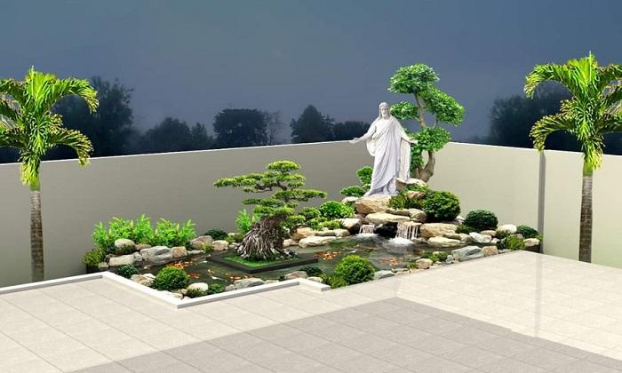 Cảnh quan sân vườn đẹp tại Vũng Tàu