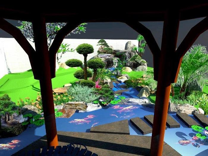 Công trình cảnh quan sân vườn đẹp với chi phí rẻ